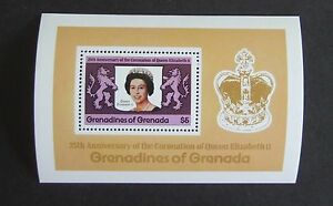 Grenadines Grenada 1978 25th Ann Coronation MS Miniature Sheet MNH UM unmounted
