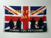 RARE 2020 HM Armed Forces Day Military Thank you Veteran  5FT X 3FT Flag Cloth
