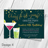 Personalised Drinks Cocktail Night Birthday Party Invitations & Thank You Cards