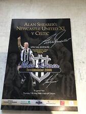 More details for alan shearer testimonial programme. personally signed by alan shearer