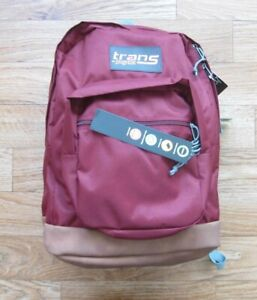 New W/ Tag Jansport Super Cool Russet Red 2200 Cu Inch Flower Backpack