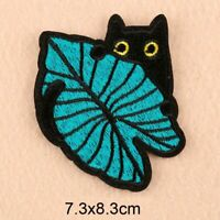 DIY Black Cat Embroidery Sew On Iron On Patch Badge Fabric Applique Craft 1pcs