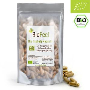 BioFeel - Bio Triphala Kapseln, 120Stk., 500mg - Dreifrucht