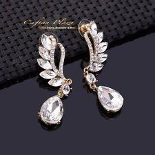 Mode-Ohrschmuck im Hänger-Stil mit Zirkon-Perlen und Durchzieher-Verschluss