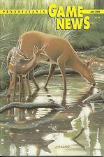 Pennsylvania Game News July 2006 cover by Dwight Kirkland Evening Calm doe fawn