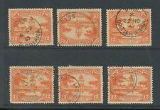 BRITISH GUIANA 1947 VILLAGE POSTMARKS GROVE NIGG WHIM LEONORA WALES etc 6 stamps