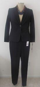 NWT Tahari Levine white/ black one button 2 pc pant suit , sz 6. SUGG. $280.00