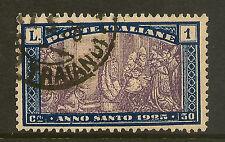 ITALIA: 1924 ANNO SANTO 1L sg176 USATO