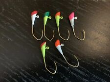 100 Pack 1/16oz Shad Dart Jigs Gold Sickle Hook Two Tone Colors