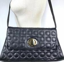 Bodhi Black Shoulder Bag Convertible Clutch Purse Quilted Bubble Stitch Leather