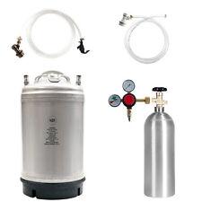Homebrew Kegging Kit -5 lb Co2 Tank, 3 Gallon Keg, Regulator + Parts SHIPS FREE!