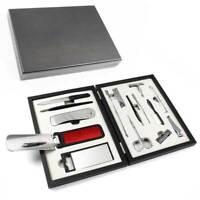 BHM 3405 Traveling Grooming Kit Mens Gift Christmas Wooden Box Case scissors
