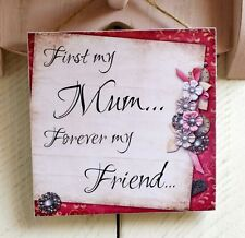 plaques sign gift present mothers day mum mam nan mama nannies quote saying