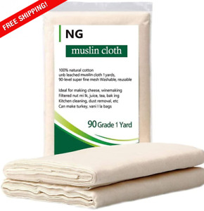 NUOBUNG - Cheese-cloth, Grade 90, 100% Unbleached Cotton Ultra Fine Food gauze,