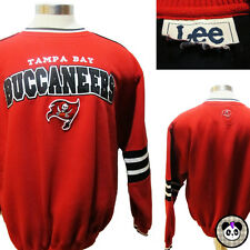 Tampa Bay Buccaneers NFL Football Sweatshirt Embroidered Applique Mens L Sew Vtg