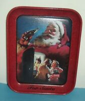 "Merry Christmas For Santa Coke Coca Cola Christmas 10.5""x14"" Tray 2002 Holiday"