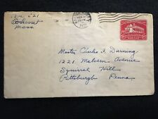 1932 BOSTON, MASSACHUSETTS US COVER WITH 2 CENT SCOTTS# U525 MOUNT VERNON STAMP!