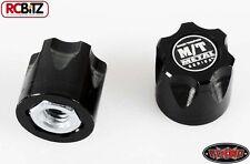 RC4WD Mickey Thompson Metal Series 1/10 Wheel Center Caps 2 Hubs Hub BLACK