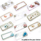 Hot 3D Flower Luxury Bling Glossy Diamond Crystal Case Cover For iPhone 5s 6 Lot
