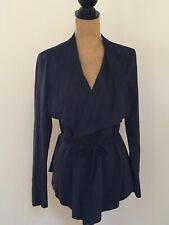 Romeo and Juliet Couture Blue Faux Suede Jacket, Size Large, BRAND NEW