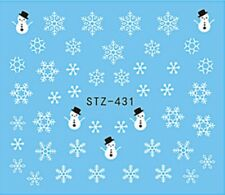Snowman Snowflakes Nail Art Sticker Decal Decoration Manicure Water Transfer