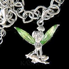 w Swarovski Crystal ~Green Tinkerbell~ Tinker Bell ANGEL fairy Bracelet Jewelry