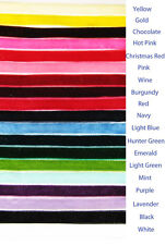 """2 Yards 3/8"""" / 9mm Quality Velvet ribbons 15 plus colors to choose from"""