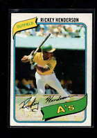 1980 TOPPS #482 RICKEY HENDERSON ROOKIE RC EX-MT+ D9652