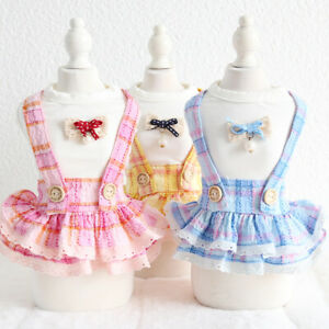 Pet Dog Strap Skirt Summer New Dog Dress Small Dog Puppy Cat Costume 3color