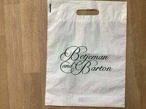 Vintage Betjeman and Barton French Tea Merchants Plastic Carrier bag 40 x 30cm
