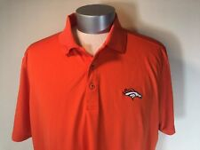 Denver Broncos Shirt Mens XXL Cutter and Buck NFL Logo Embroidered Polo Golf 2XL