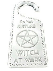 Do Not Disturb Witch At Work Hanging Door Handle Sign Hotel Style - Enter