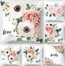 45X45cm Flower Love Decor Polyester Cushion Cover Pillow Case Home Sofa Decor UK