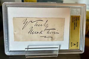 MARK TWAIN *SIGNED CUT/AUTOGRAPH CERTIFIED ACA & Walt Disney Attractions Inc LOA