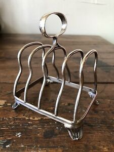 Antique English Sterling Silver Toast Holder