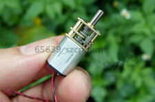 2X Micro Speed Reduction Gear Motor DC3-6V 6V 65RPM N20 D-Type Shaft with Cable