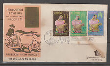 Philippine Stamps 1963 Freedom from Hunger complete set FDC