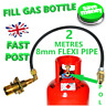UK Bayonet LPG Filling Point to  Gas Propane Bottle 2 Meters FLEXI pipe POL