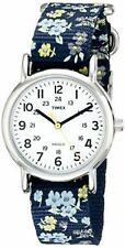 Timex T2P370, Weekender Watch, Indiglo, 31 MM, Floral Strap