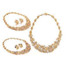 Crystal Rhodium Plated Costume Jewellery Sets