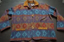 Vintage WOOLRICH Southwest Indian Aztec Wool Jacket Women's Size M Wool Coat USA