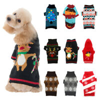 Christmas Sweater Pet Vest Dog Puppy Hoodie Jacket Cute Jumper Clothes XXS-XL