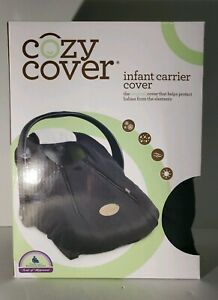 Car Seat Cover Baby Infant Cozy Warm Weatherproof Microfiber Shell Black Carrier