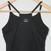 BEYOND YOGA X FILA Black Tank Top w/ Adjustable Straps and Bra Women's SMALL 🔥