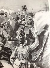 49500 Ww1 Book Plate French Troops Trick Germans With Top Hat Trench Warfare