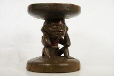 "Chokwe Figural Stool 15.5"" - DRC/Angola - African Art"