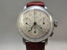 VINTAGE MULCO CHRONOGRAPH 1940s watch.  (3) registers