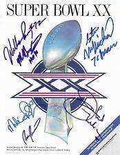 1985 CHICAGO BEARS signed autograph SUPER BOWL XX PROGRAM BECKETT LOA SINGLETARY
