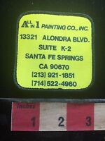 Vtg All-In-1 PAINTING Co. Santa Fe Springs California Painter Patch 73X9