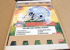 New 1992 Budweiser OHIO STATE Buckeyes Football Helmet Schedule Poster